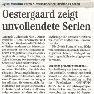 Unvollendet, Ankuendigung, Schwetzinger Zeitung